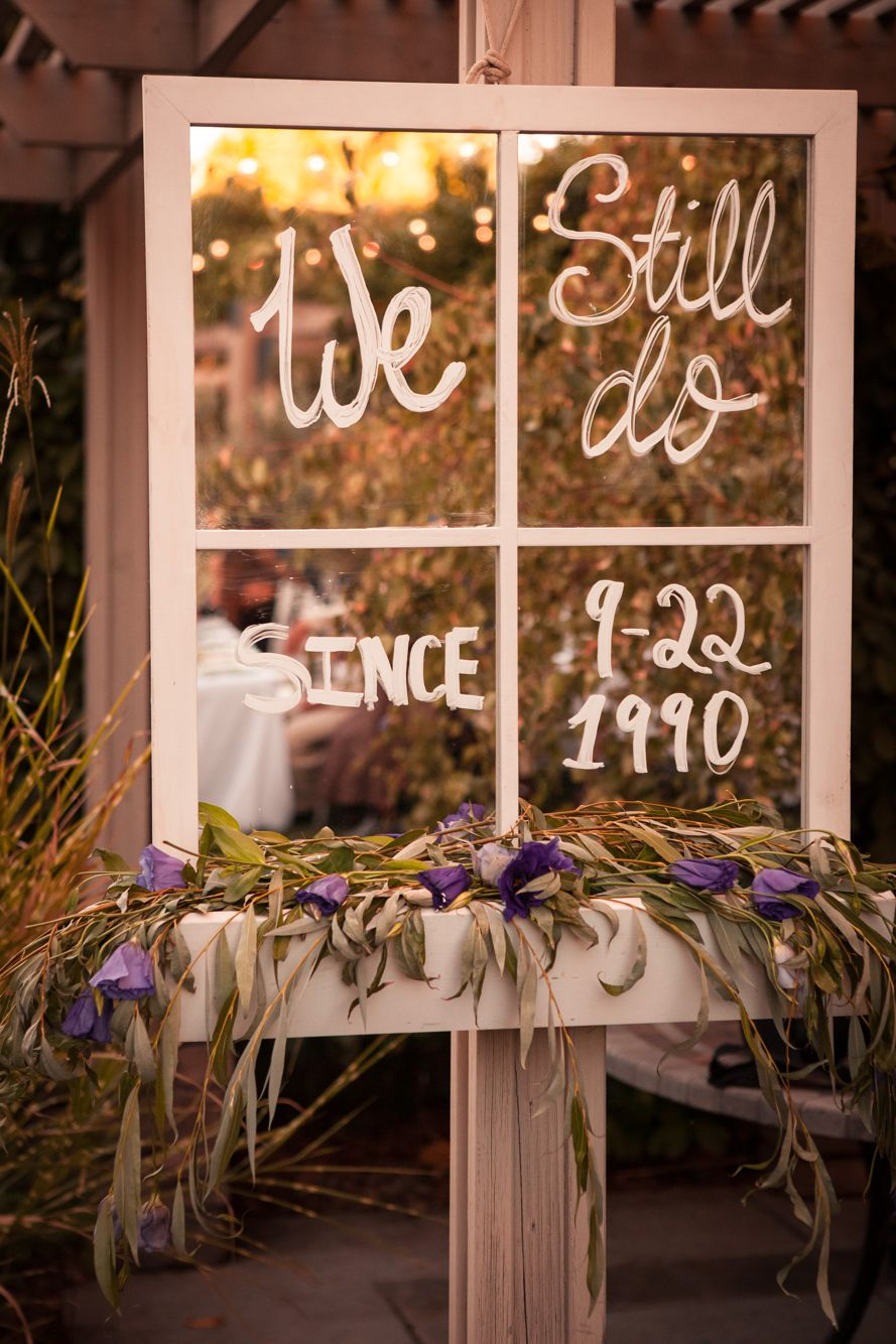 We still do wedding anniversary sign love of parties for Anniversary decoration ideas