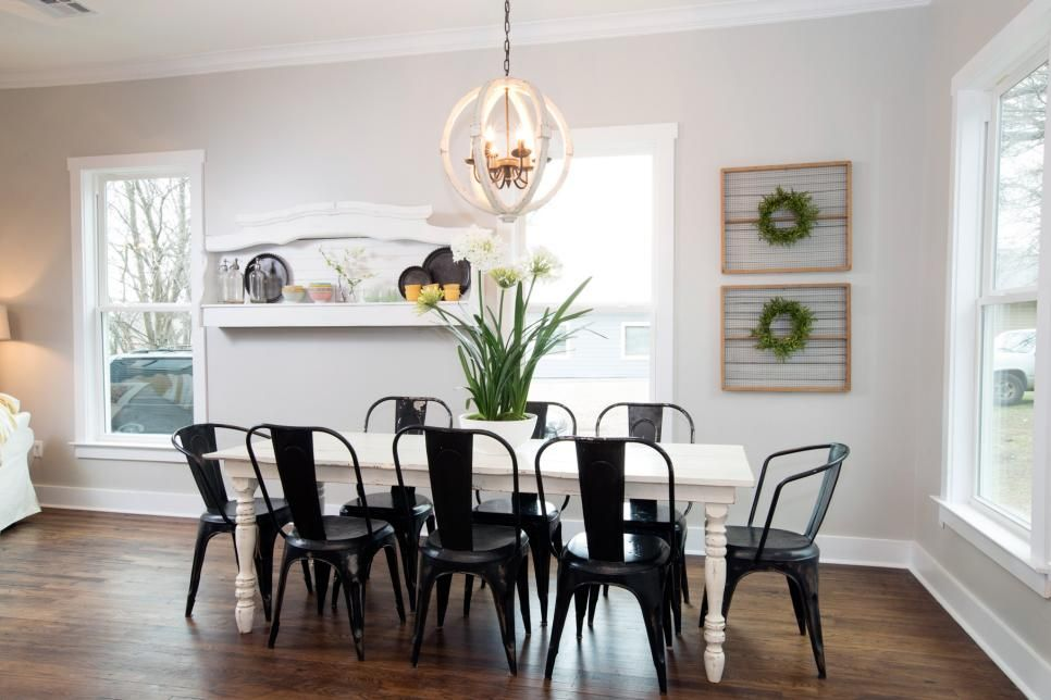 The Renovated Kitchen Now Opens Onto This Dining Room With Newly Refinished Wood Floors Walls