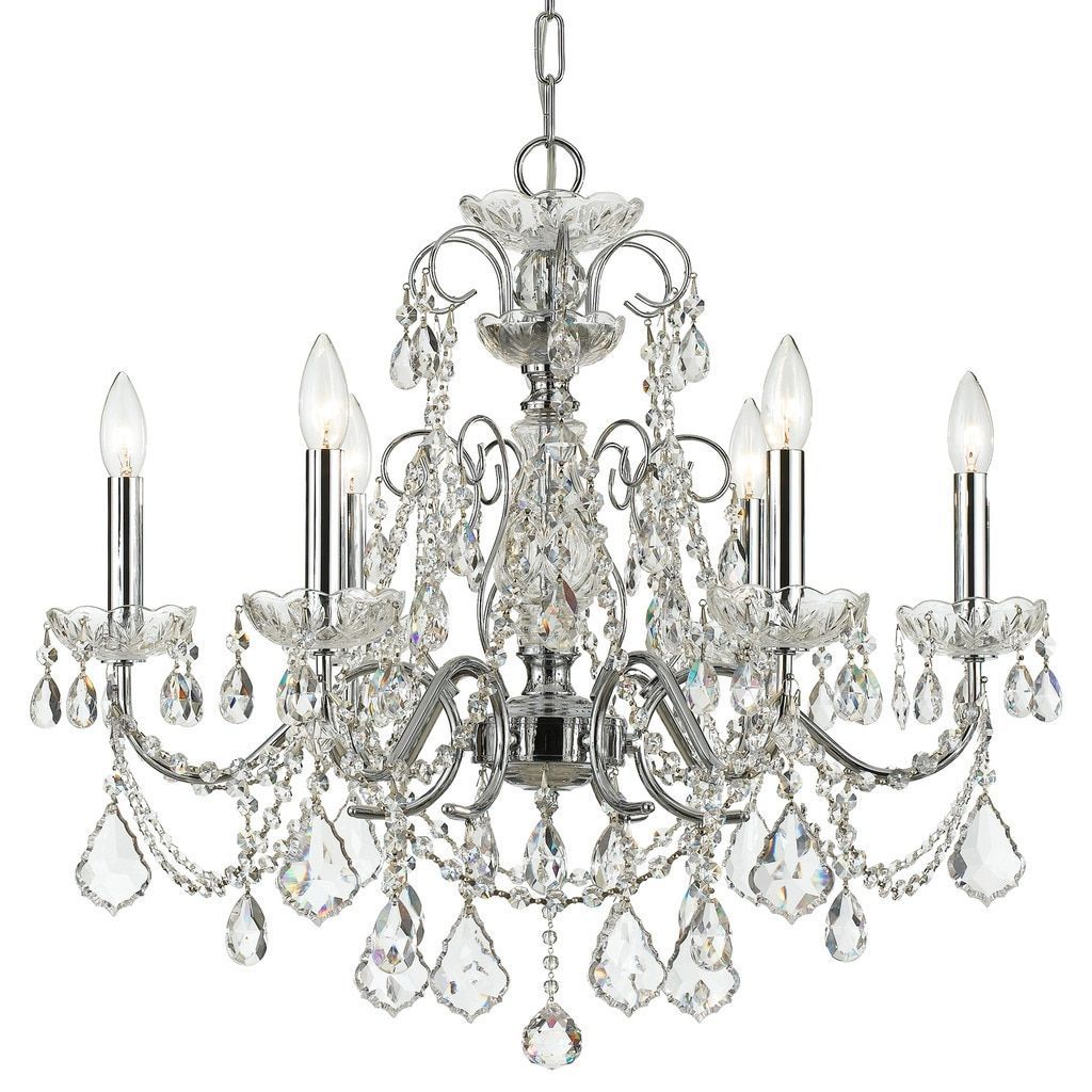 Crystorama imperial collection 6 light polished chrome grey crystorama imperial collection 6 light polished chromeswarovski spectra crystal chandelier silver arubaitofo Gallery