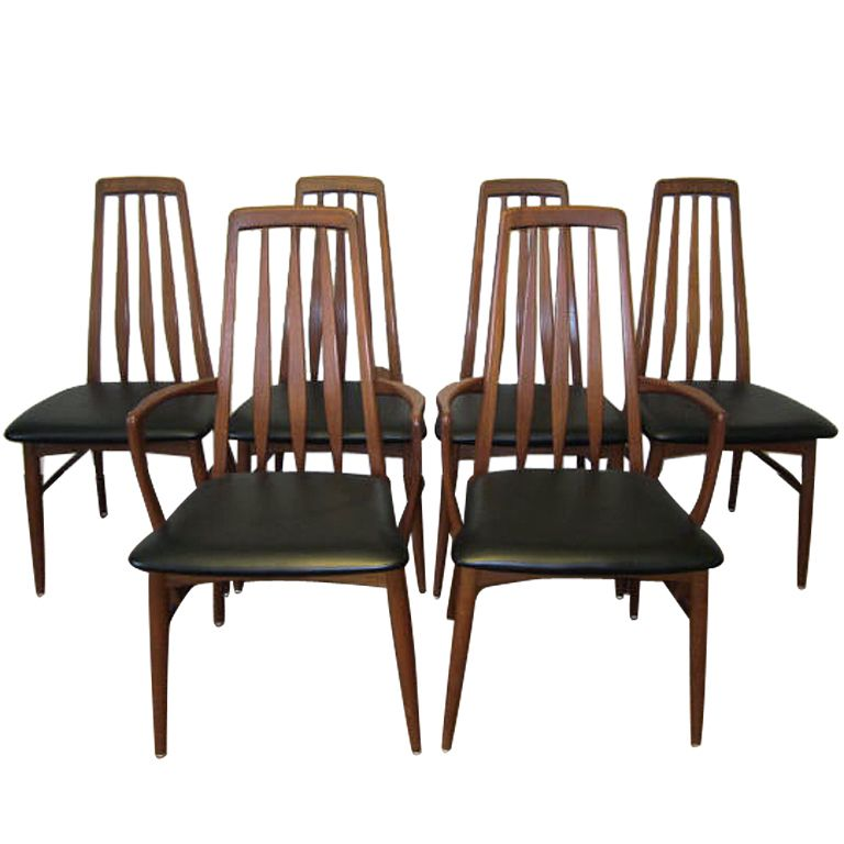 View This Item And Discover Similar Dining Room Chairs For Sale At   Set Of  6 Danish Teak Eva Dining Chairs   Koefoeds Hornslet   Vintage A Fantastic  Set Of ...