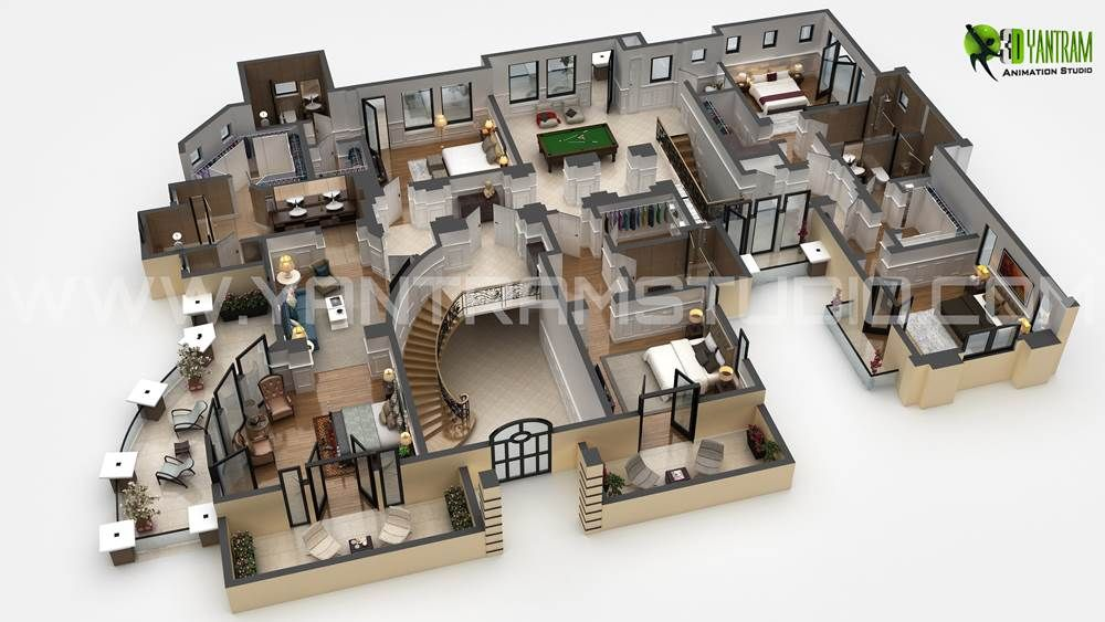 Lujo 3d Piso Plan Fabricante Home Home Design Plans Floor Plans
