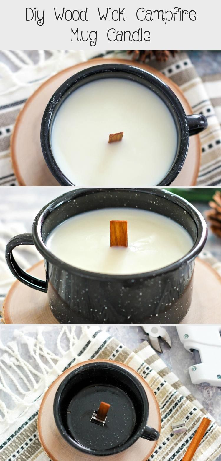 Diy wood wick campfire mug candle in 2020 diy coffee