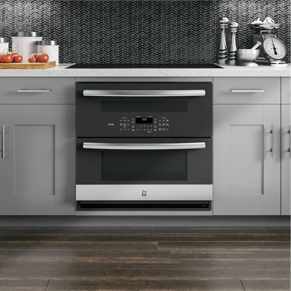 Ge Profile Series 30 Built In Double Electric Convection Wall Oven Stainless Steel Pt9200slss Best Buy Electric Wall Oven Convection Wall Oven Wall Oven