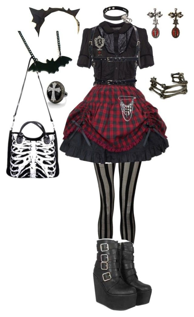 """""""5. Punk"""" by hachi13 ❤ liked on Polyvore featuring Ermanno by Ermanno Scervino, Boohoo, Borgioni and My Enemy"""