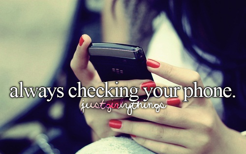 always checking your phone