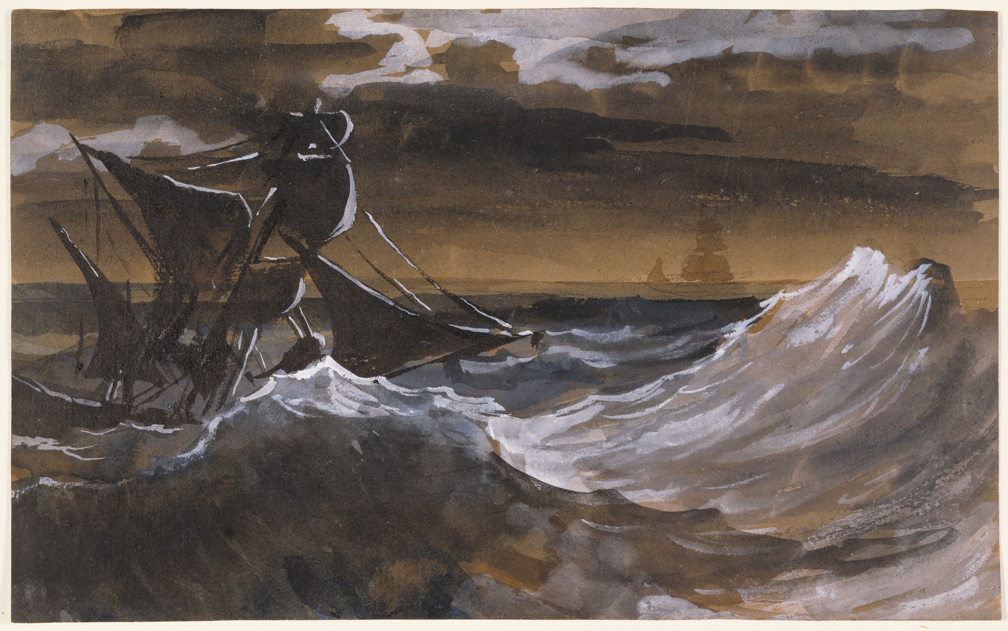 Théodore Géricault, 'Sailboat on the Sea,' 1818-1819, J. Paul Getty Museum