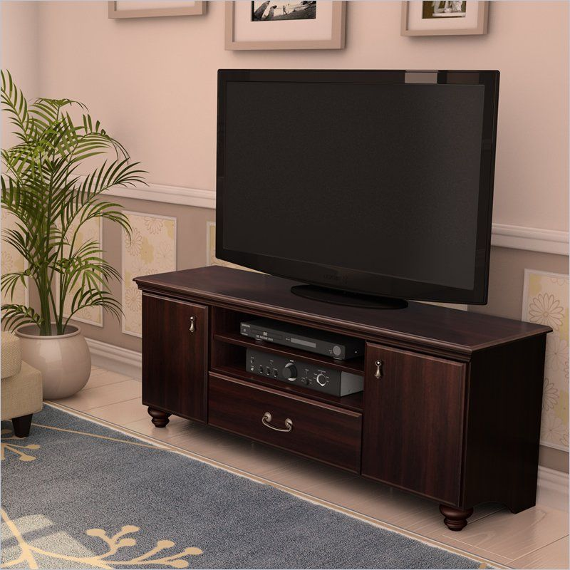 South S Dover 60 Tv Stand In Dark Mahogany