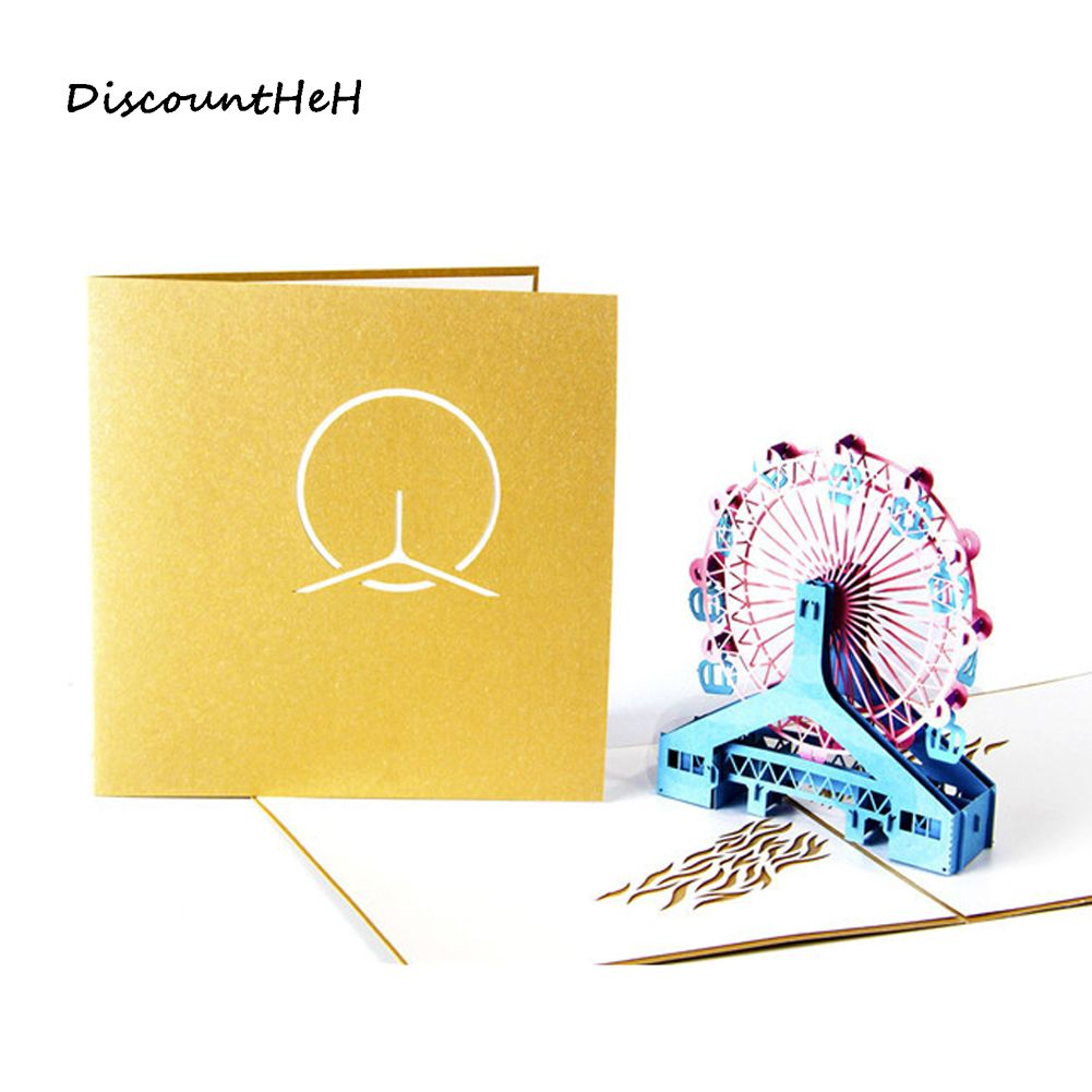 Diy d greeting card pop up cute birthday gift cards ferris wheel