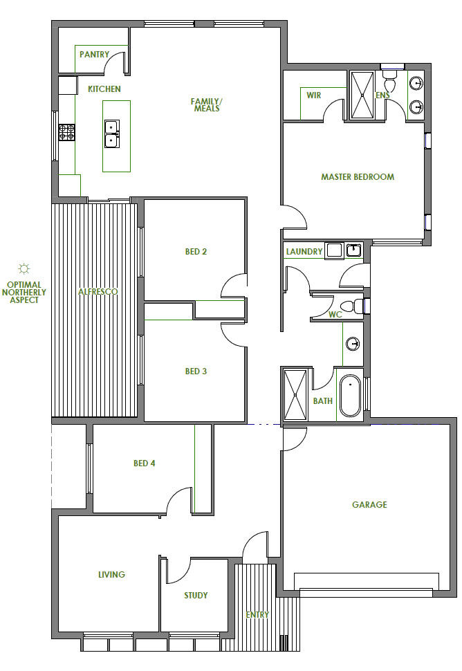 The Trinity Home Design Is Modern Sustainable And Energy Efficient Take A Look At The Floorplan Of One Of Gr Eco House Design Unique Floor Plans House Design