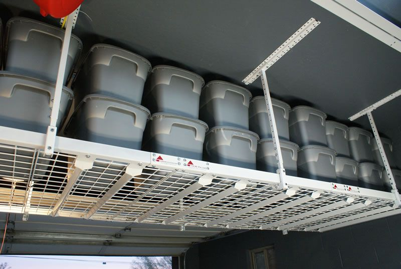 Our Overhead Storage Racks Utilize Space Empty Above The Cars In Your Garage