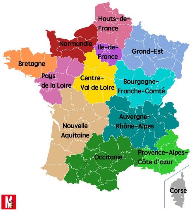 nouvelle aquitaine carte de france