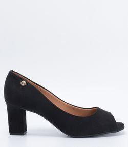 Sapato Feminino Fake Suede Peep Toe Vizzano   Sapatos