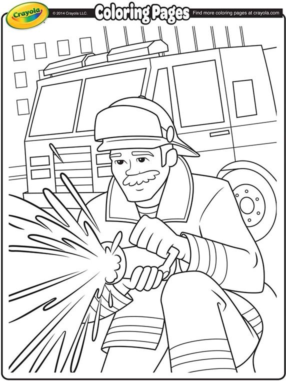 FIREFIGHTER COLORING PAGE | firefighters | Pinterest | Firefighter ...