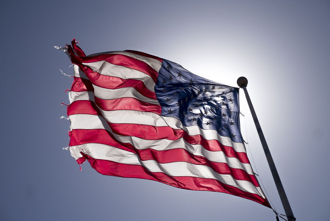 American Flag Flag American Flag Old Things