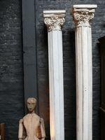 paire de colonnes de décor de théâtre