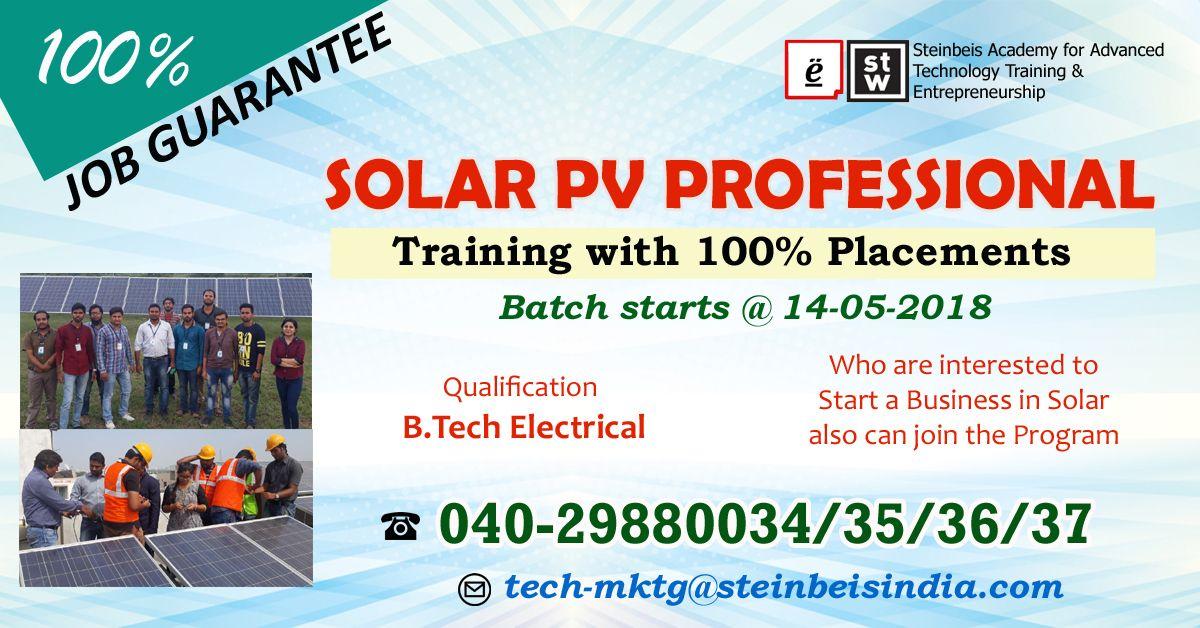 Solar Professional Training For Engineers Hyderabad Training Programs Solar Train