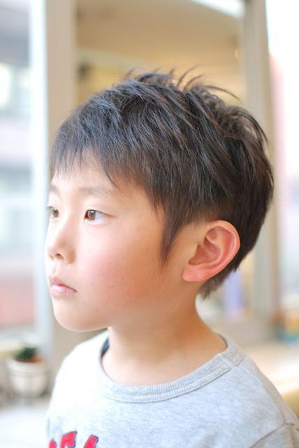 少し長めに流す感じで 男の子専用 キッズヘアオーダー用画像集