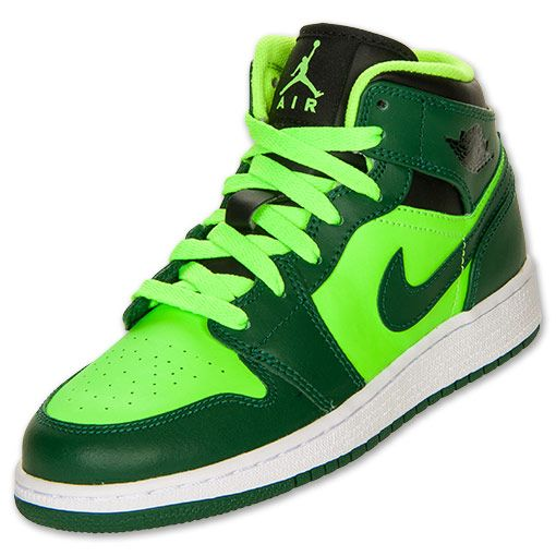 Boys' Grade School Air Jordan 1 Mid Basketball Shoes ...