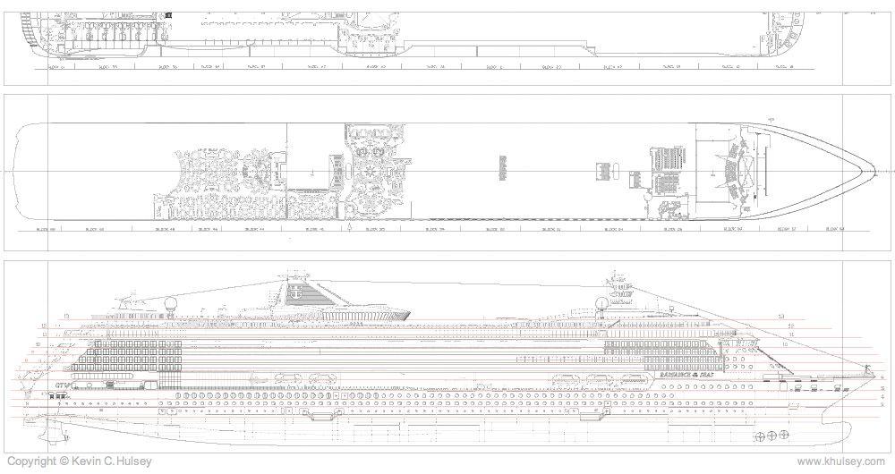 ship plan  u0026 elevation vector drawings