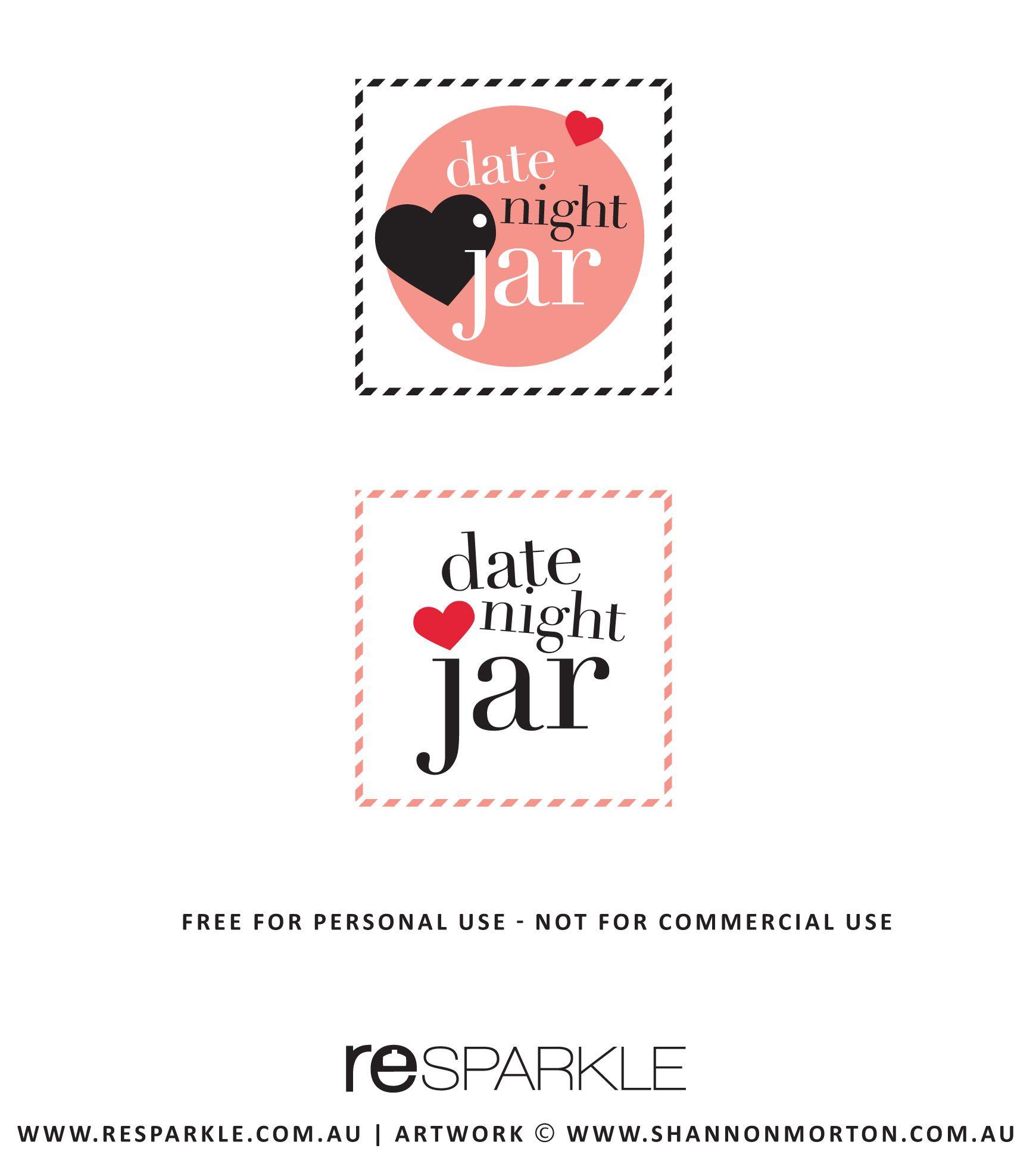 34 Date Night Jar Label Labels Database 2020