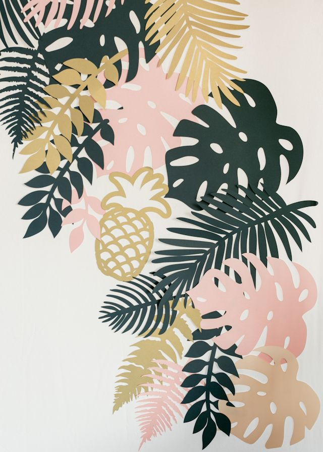 Paper Party 2015: Lasercut Paper Tropical Foliage Photobooth Backdrop by Alexis Mattox Designs / Photo by Charlie-Juliet Photography