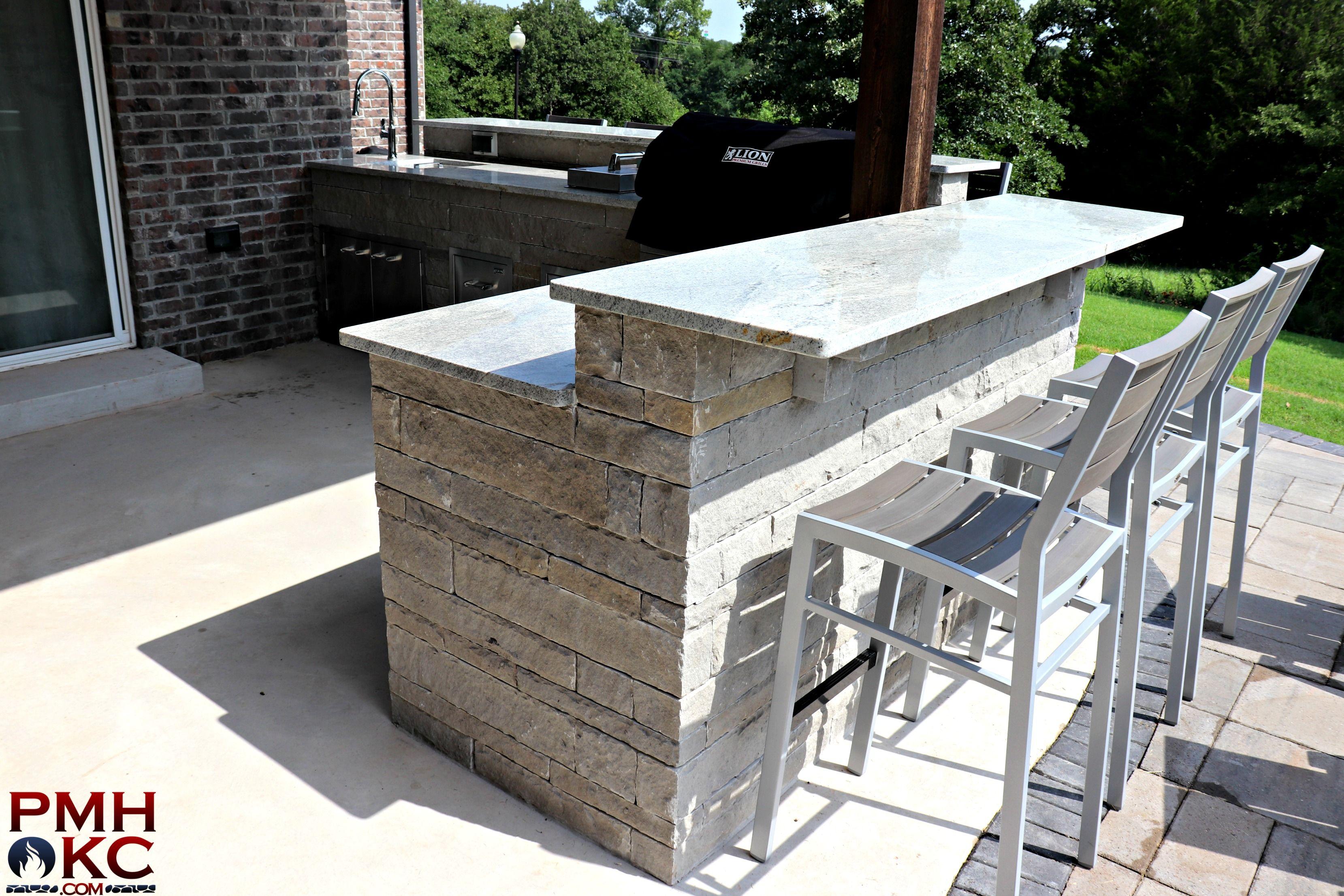 Custom Stone Outdoor Bar Small Backyard Landscaping Outdoor Bar Outdoor Pergola