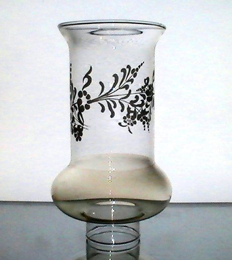 Hurricane Shade 1 7 8 Fitter X 7 1 8 X 3 5 Embossed Flowers Iridescent Oos With Images Glass
