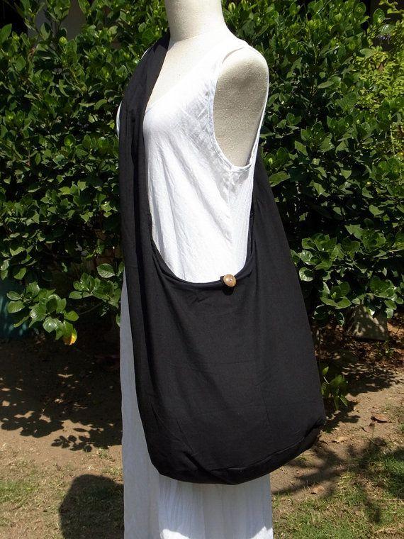 X LaRGE Crossbody Bag Woman Girl Vegan Hobo Boho Hippie Cotton ...