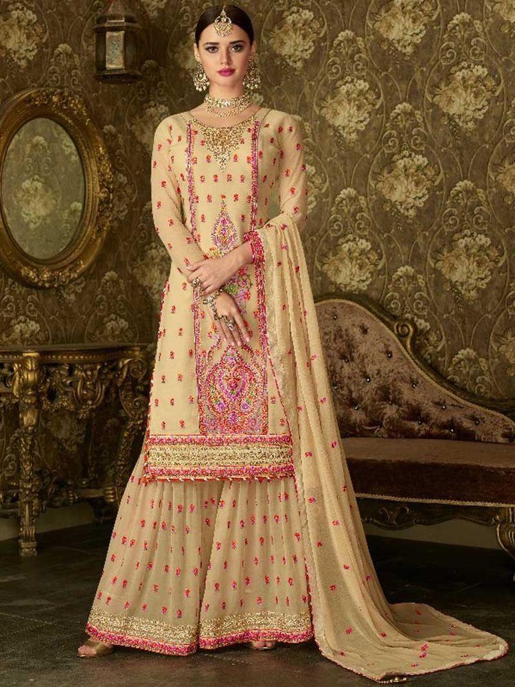 7389719d61 #Designer #Party #wear #Georgette #embroidery #Salwar #Kameez #Indian # Bridal #Party Dress #Handmade #SalwarKameez