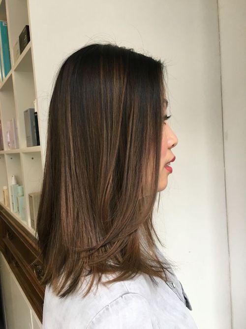 22 Popular Medium Hairstyles For Women 2017 Shoulder Length Hair Ideas Black Hair Balayage Asian Hair Balayage Hair