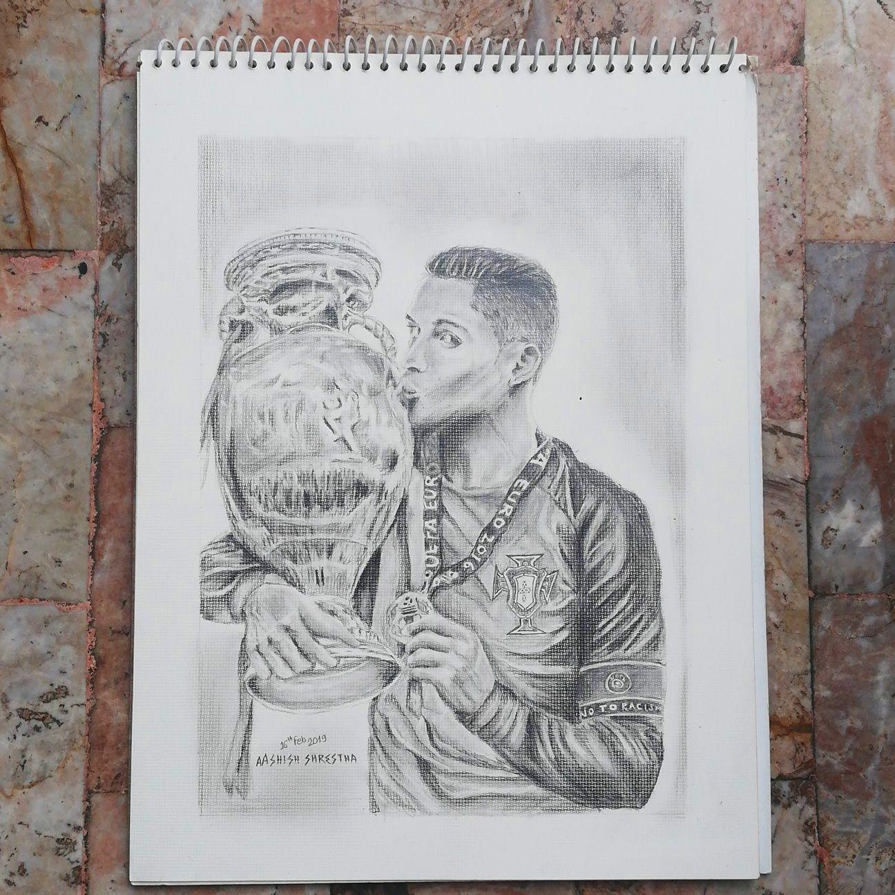 Pencil Sketch Of Cristiano Ronaldo Desenho Batman Desenho A Lapis Desenho