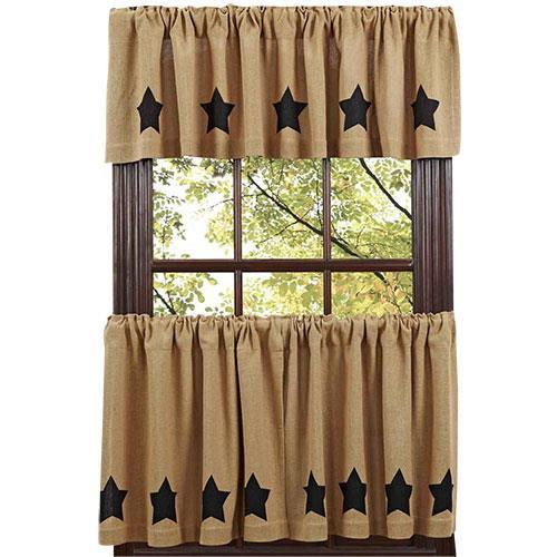 Black Curtains, French Country