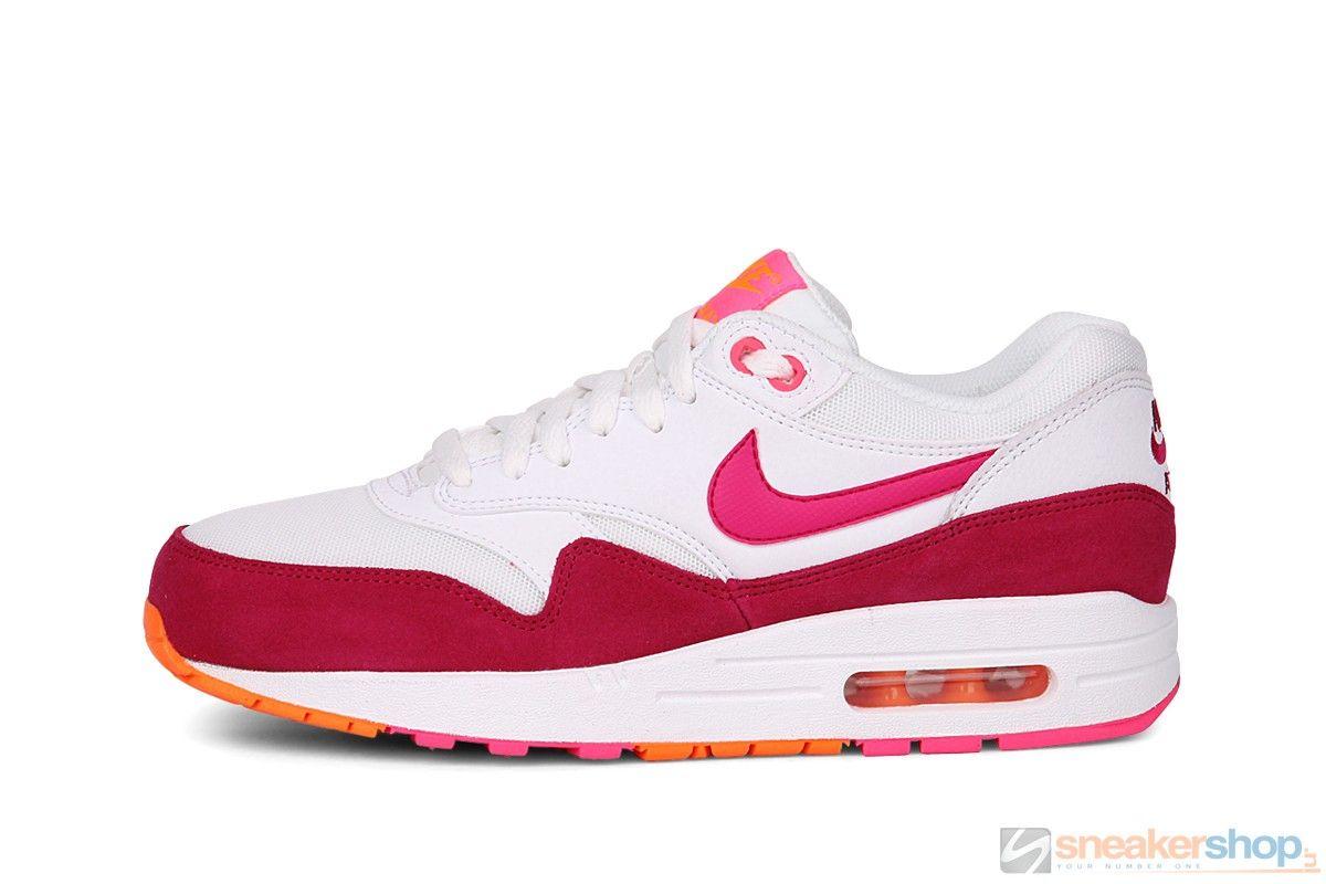 Nike Air Max 1 Essential Wmns (WhiteFireberry Pink Pow