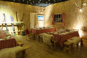 Ski chalet party theme snowed in event apres ski