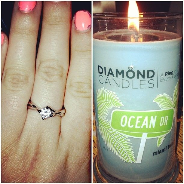 Diamond Candles Ocean Drive Is Where I Would Love To Live Diamond Candles Candles Jewelry Candles