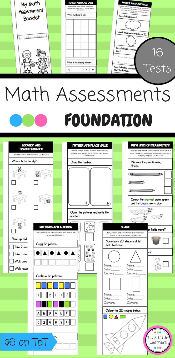 Foundation Math Assessment Booklet (Pre-Primary - Australian ...