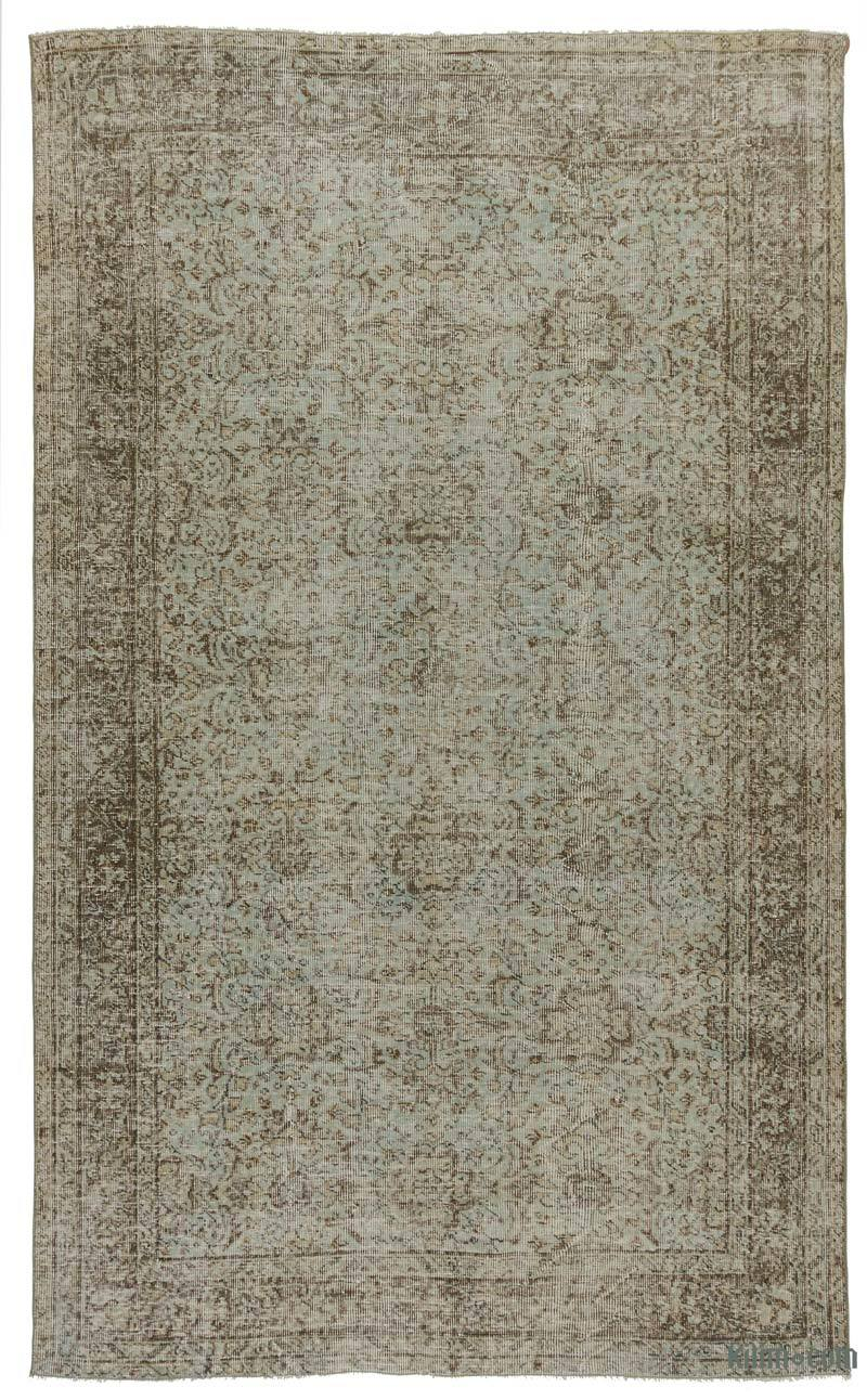 Green Turkish Vintage Area Rug 5 5 X 8 10 65 In X 106 In