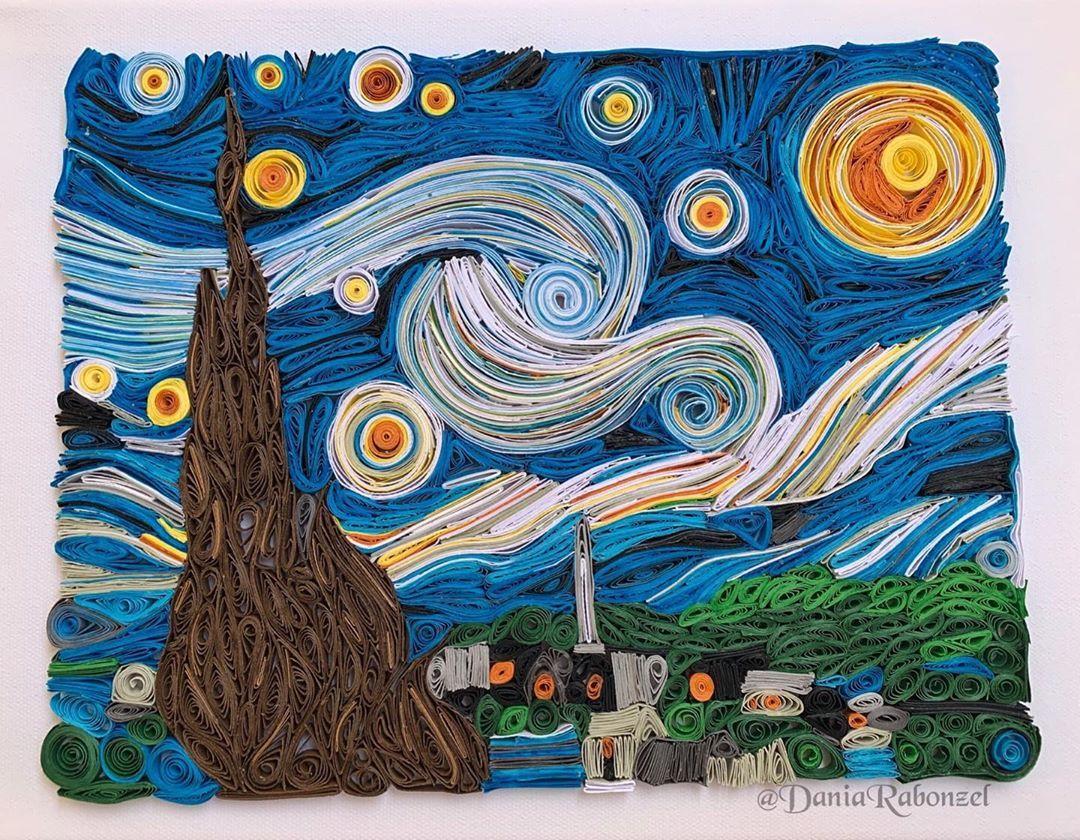 ليلة النجوم بالإنجليزية The Starry Night و بالهولندية De Sterrennacht هي لوحة رسمها الفنان الإنطباعي الهولندي فينسنت فا Artwork Starry Night Drawings