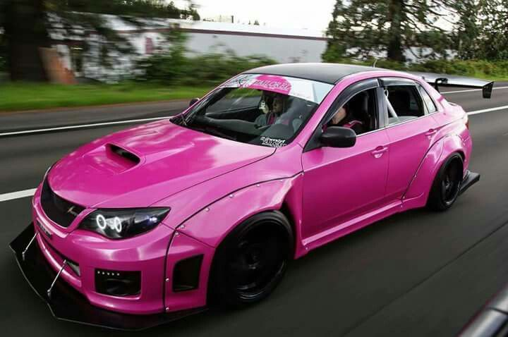 All clean! #pink #subaru #wrx #vinyl #wrap | Wrx, Subaru ... |Pink Subaru Impreza Wrx