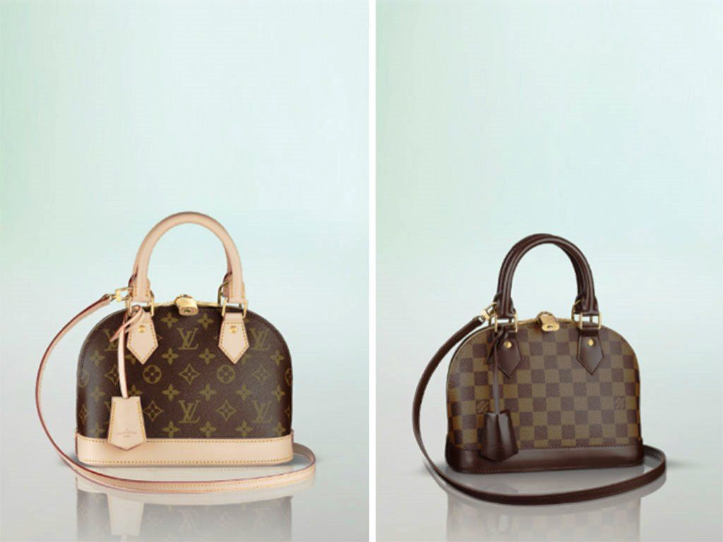 Louis Vuitton Damier Ebene And Monogram Canvas Alma Bb Bag Louis Vuitton Louis Vuitton Alma Bb Bags