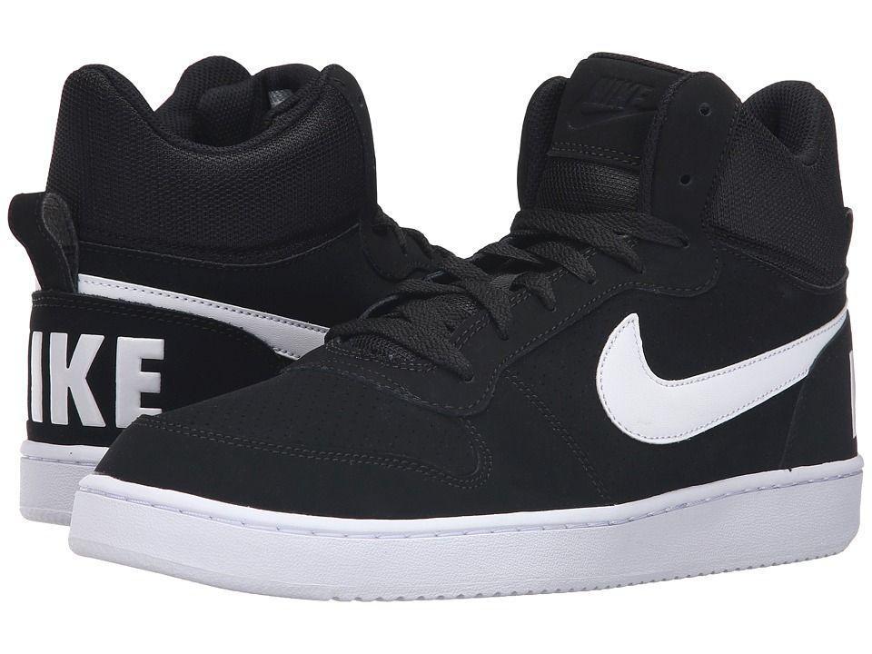 Nike Court Borough Mid Men's Basketball Shoes BlackWhite