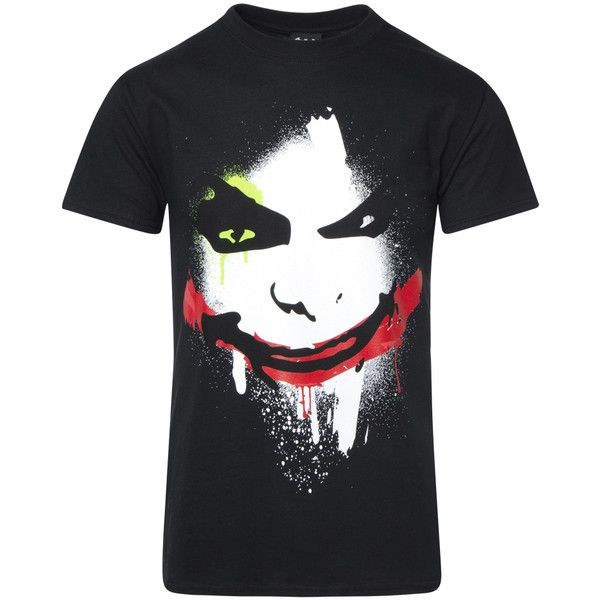 Camiseta Manga Corta Joker Big Face Negro M DC Comics