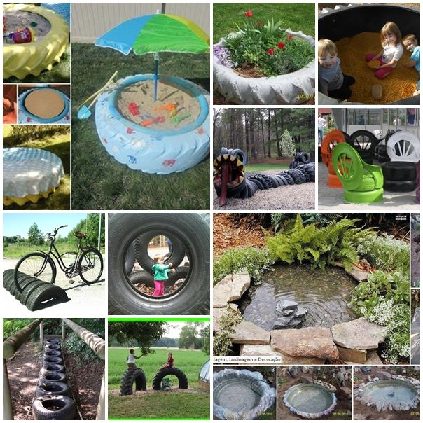 look at these creative examples and transform your used tires into amazing sandboxswings and