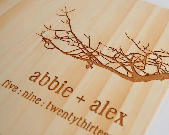 Custom Wood Guestbook Wedding Gift Bridal Engagement Tree Branch