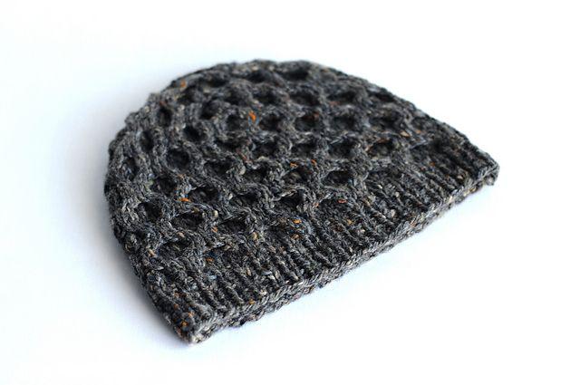 Ravelry: Tweedy Honeycomb Toque pattern by Kent Turman ...