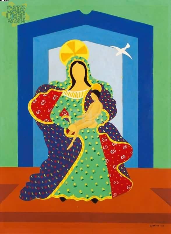 Djanira Madona 1963 70x50 Cm Arte Popular Obras De Arte Arte