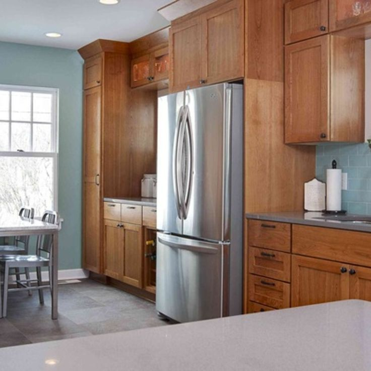 Top Wall Colors For Kitchens With Oak Cabinets SW Oyster Bay is a ...