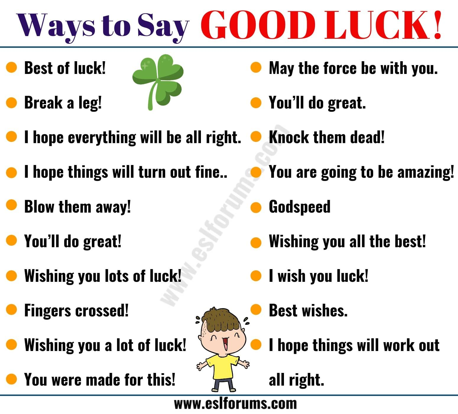 Good Luck Synonym 29 Power Ways To Say Good Luck