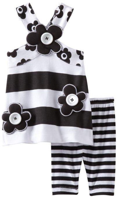 Amazon.com: Mud Pie Baby-girls Newborn Tres Jolie Tunic And Leggings Set: Clothing