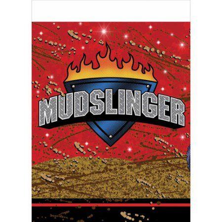Creative Converting Mudslinger Plastic Table Cover, Multicolor